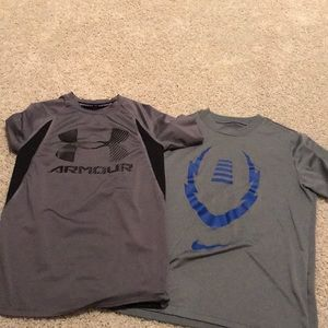lot of 2 youth dry fit small tees